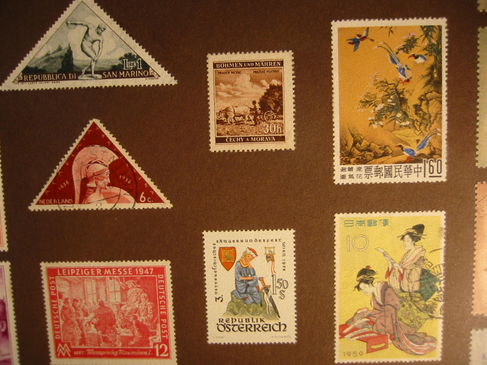 International Mid Century Stamp Collection From Various Continents