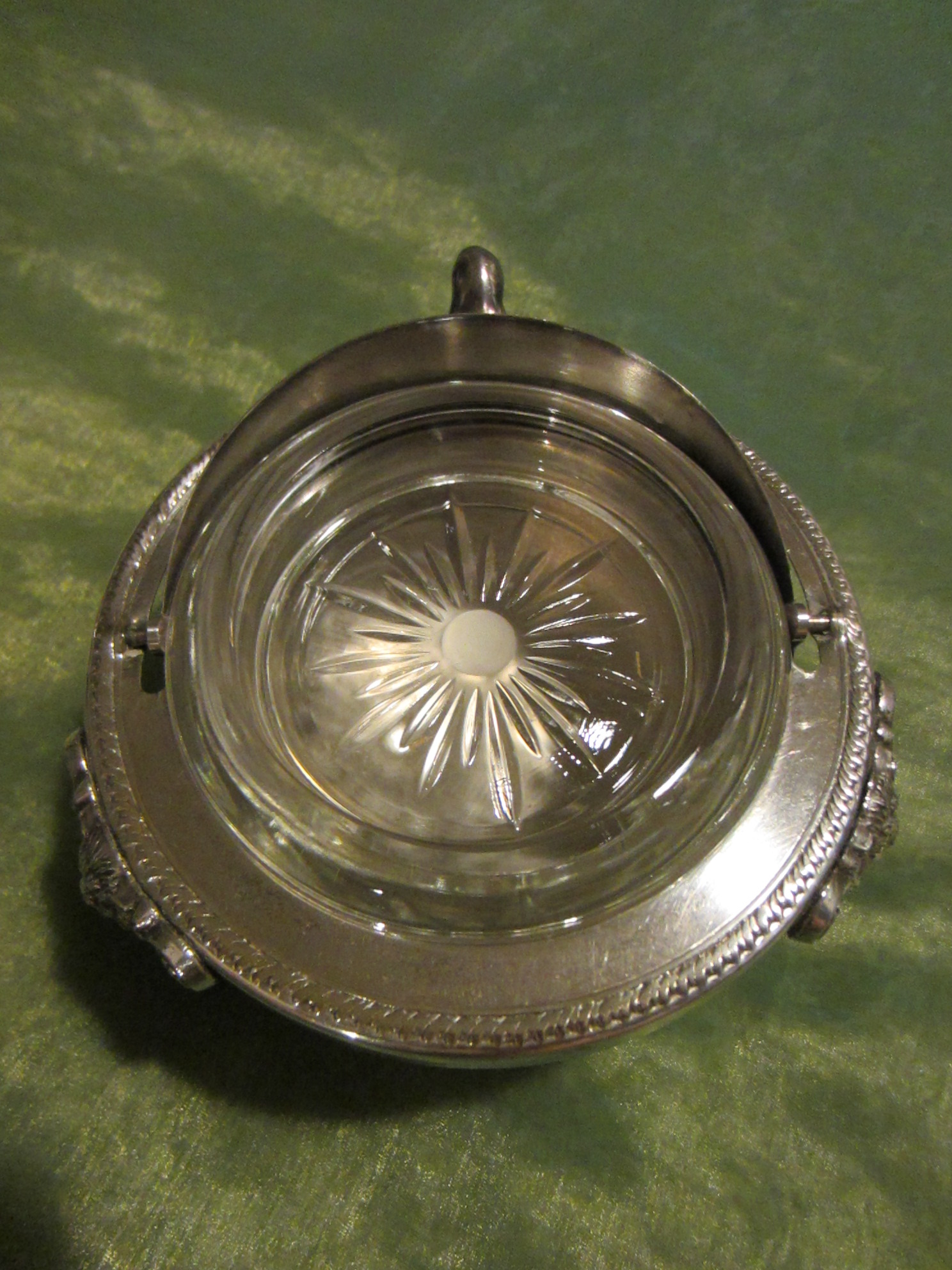 Silver Plated Lion Medallion Caviar Serving Bowl For Sale ...