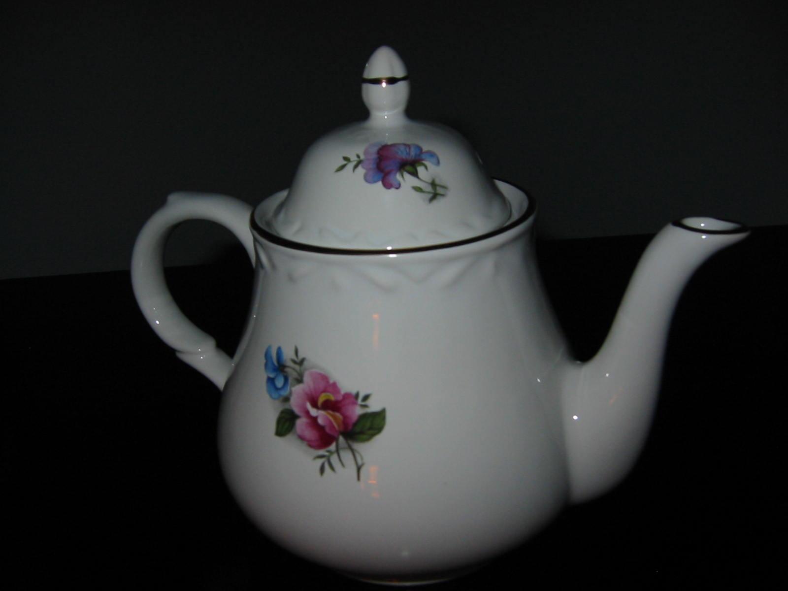 Arthur Wood Son Staffordshire Porcelain Teapot For Sale