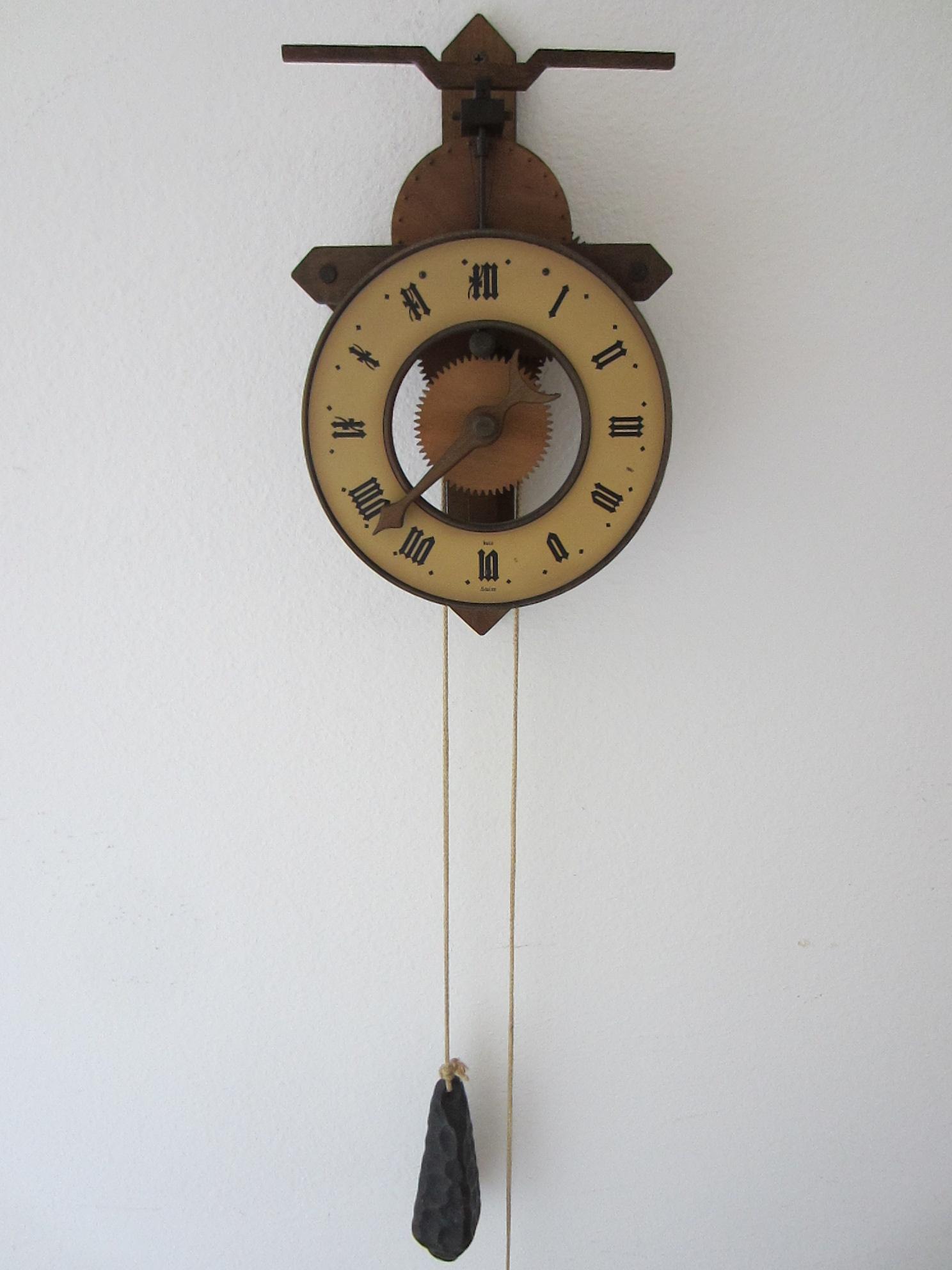 buco swiss wood metal pendulum wall clock for sale