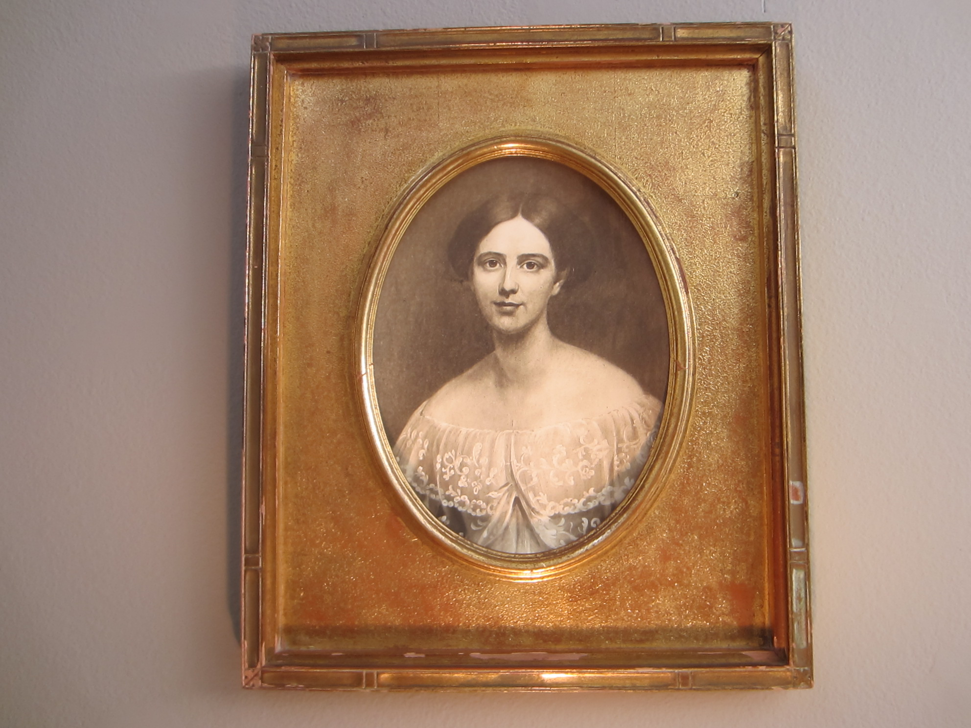 Victorian Portrait Photograph Gold Leaf Frame For Sale