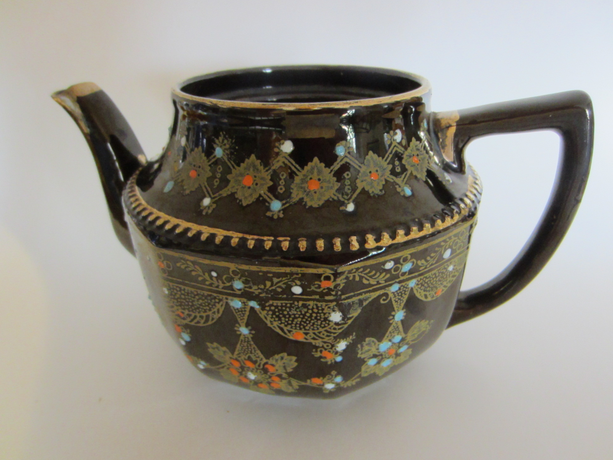 Elegant Luster Brown Ceramic Teapot Only For Decor With Idea Of Dried U0026 Or Fresh  Flowers And Leaves. Very Likely Made In Japan (occupied Timing) The Lid Is  No ...