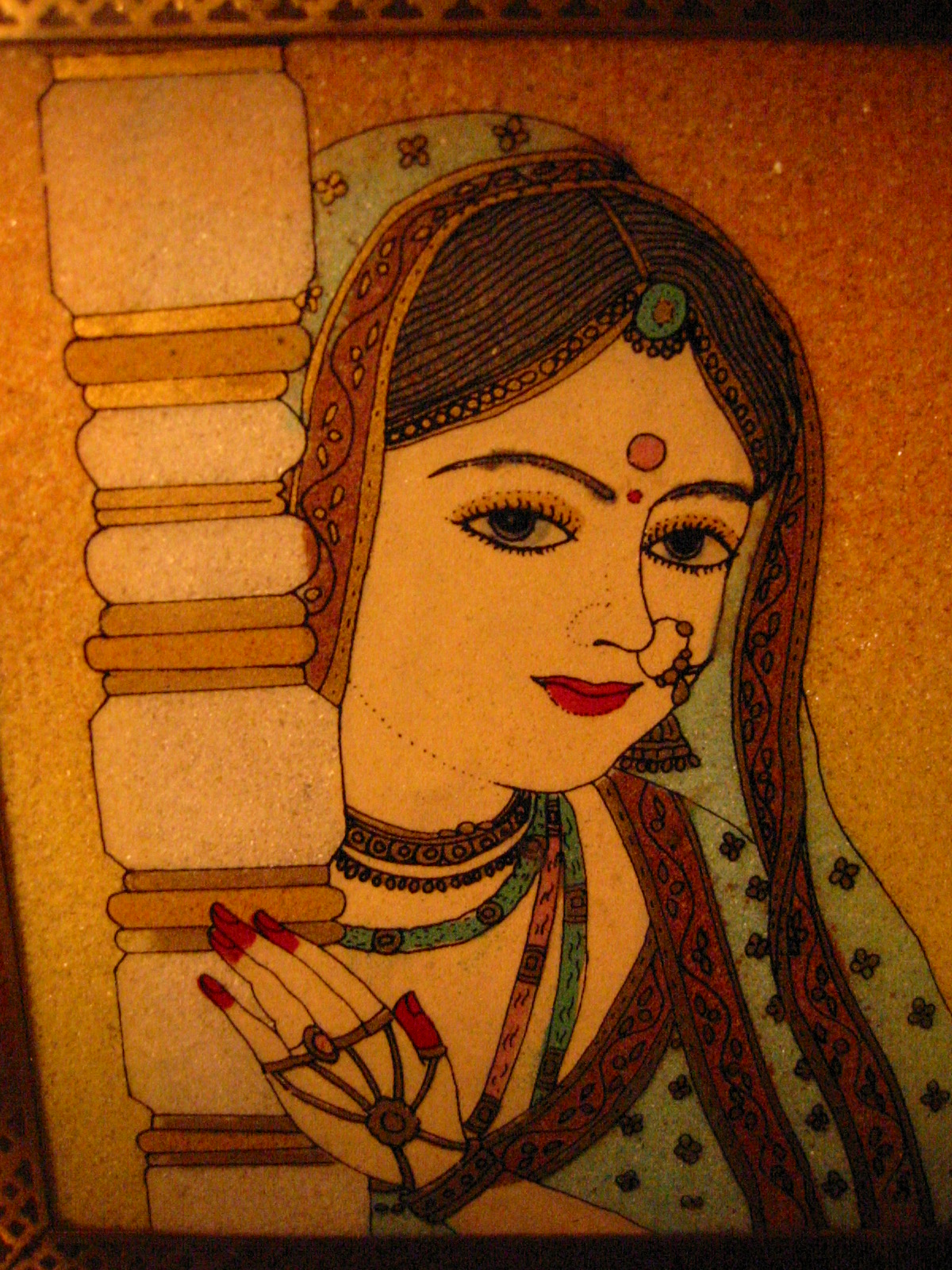 India wood jewelry boxes reverse glass portraits for sale for Hand painted portraits from photos