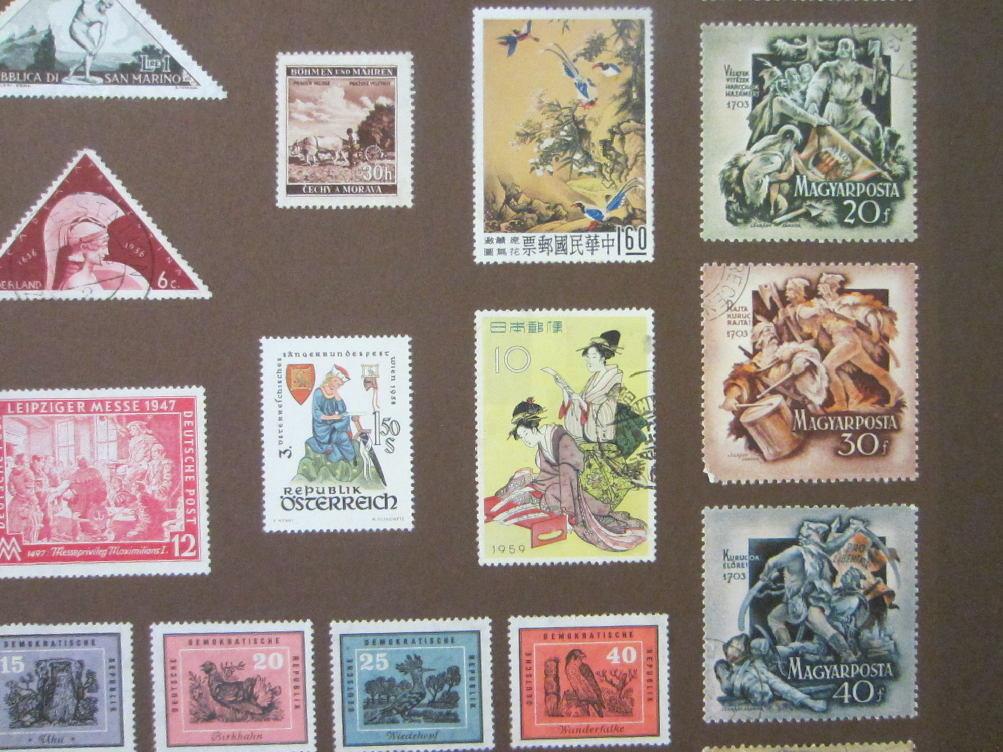 International Various Stamp Collections From All Over The World Czech Ceskoslovensko China Japan Italy