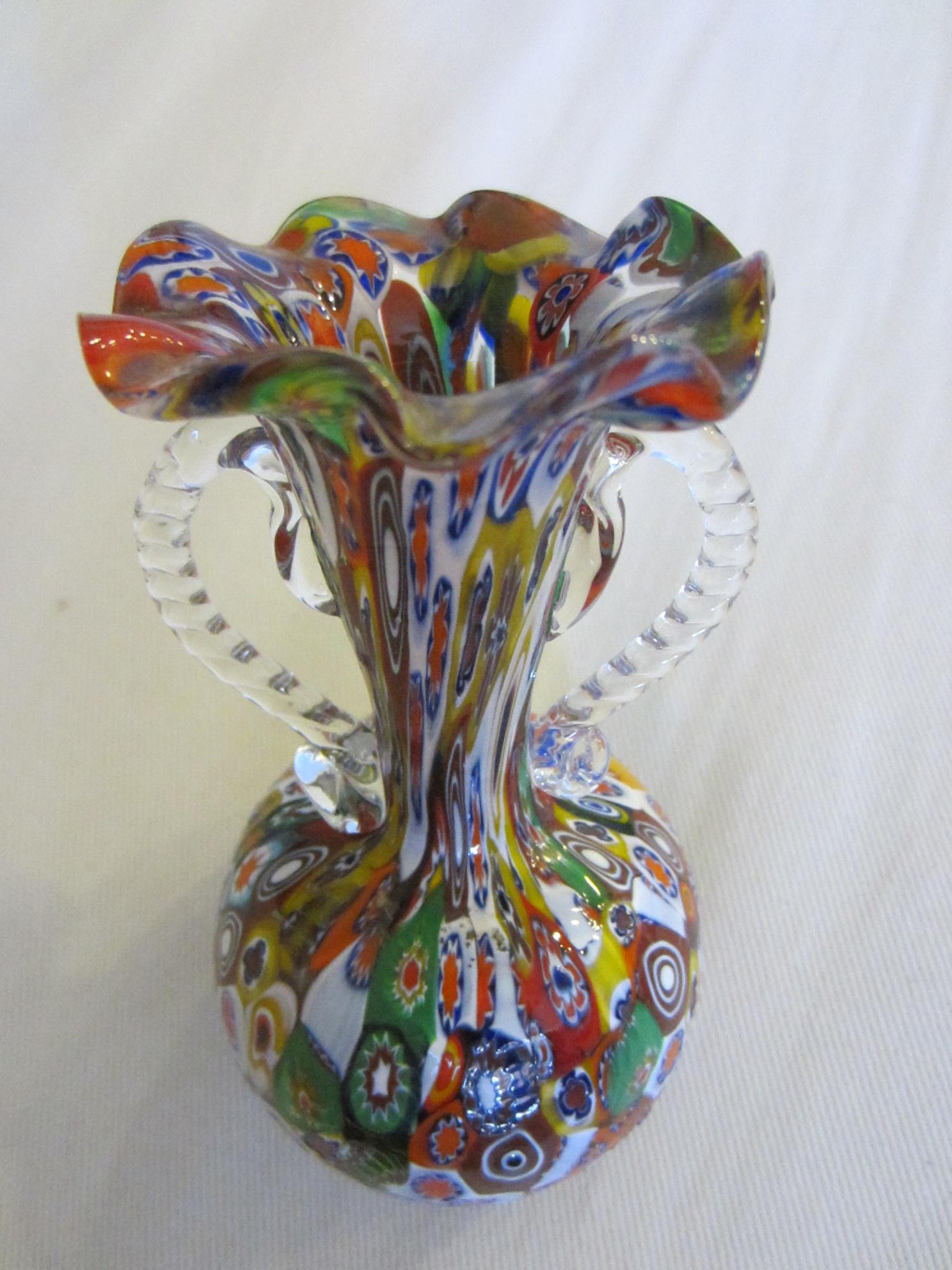 Venice Italy Millefiore Glass Vase For Sale Antiques Com
