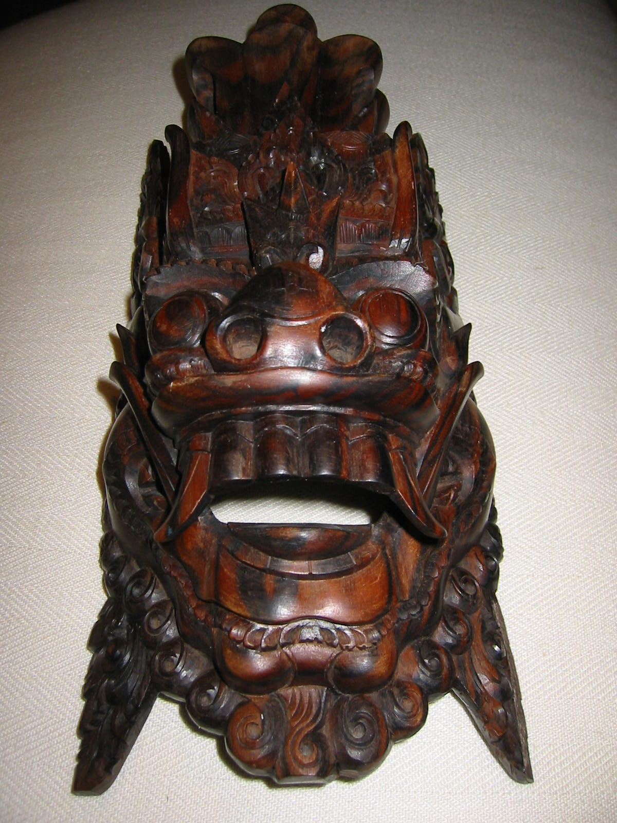 Hand carved wood folk art tribal mask for sale antiques