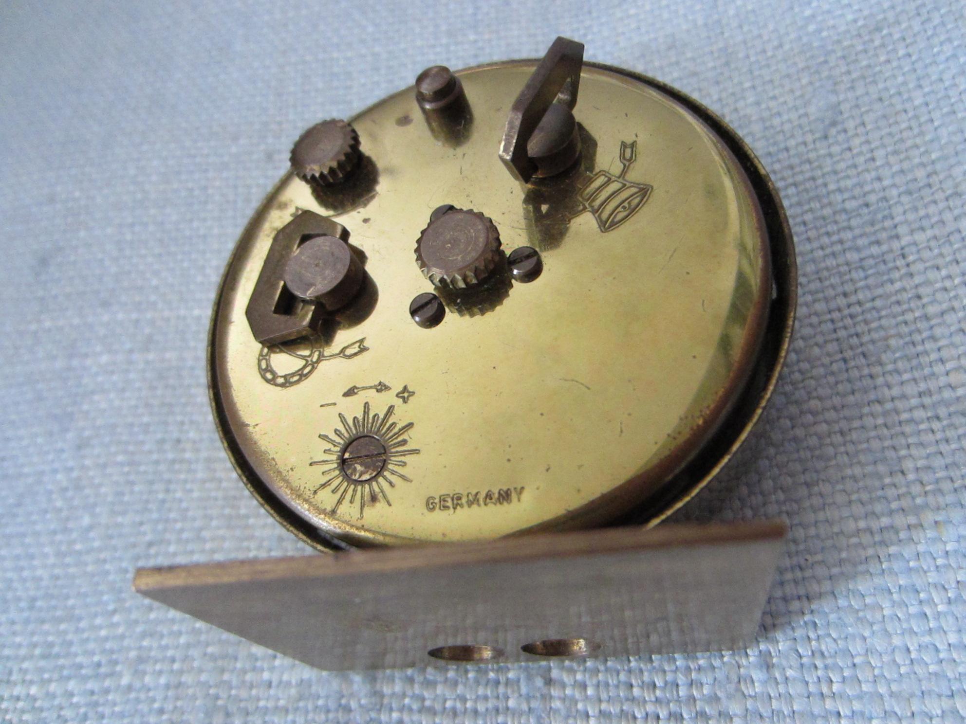 Seth Thomas Antique Brass Miniature Desk Clock For