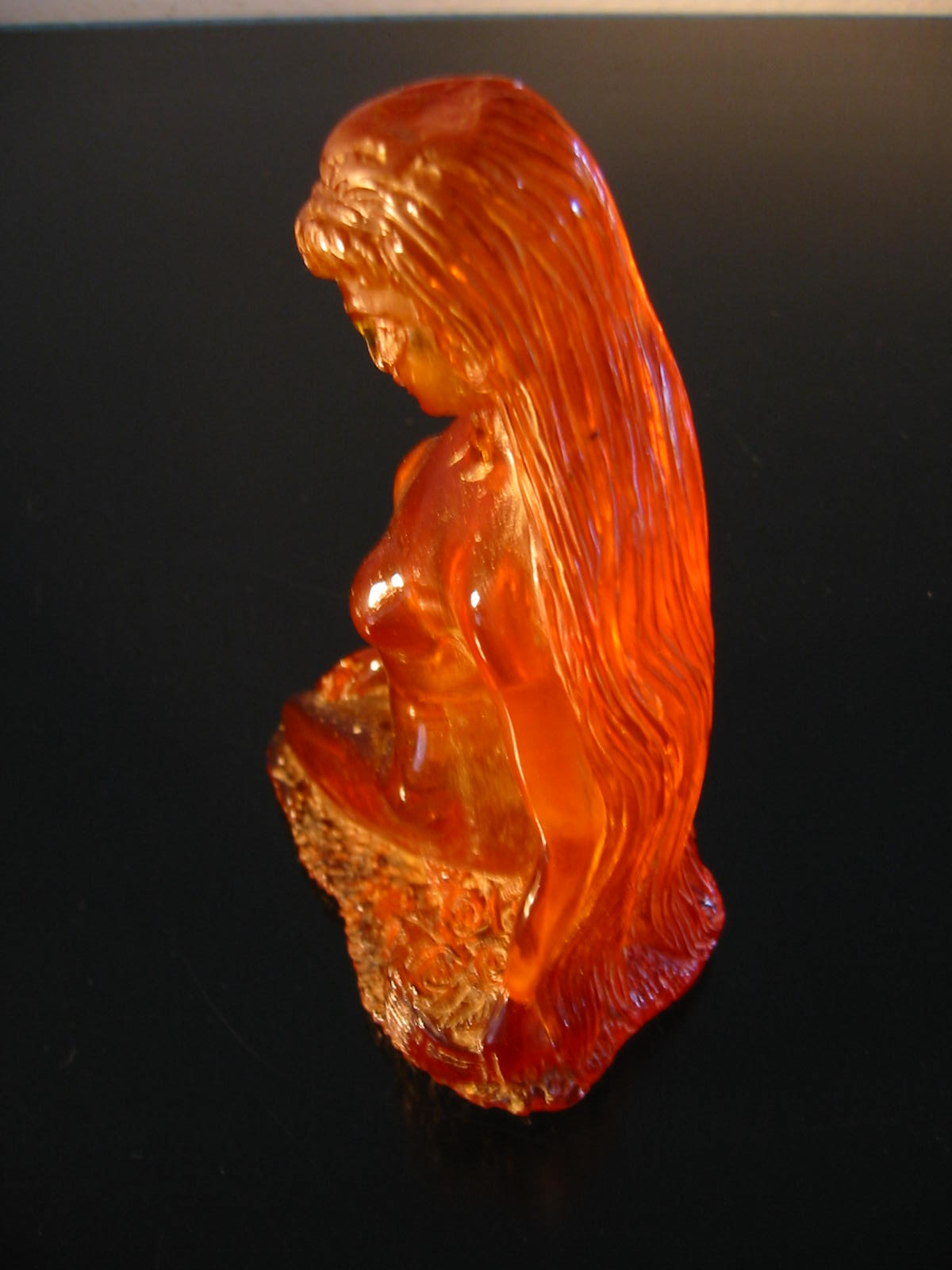 art deco resin nude amber figurine for sale classifieds. Black Bedroom Furniture Sets. Home Design Ideas