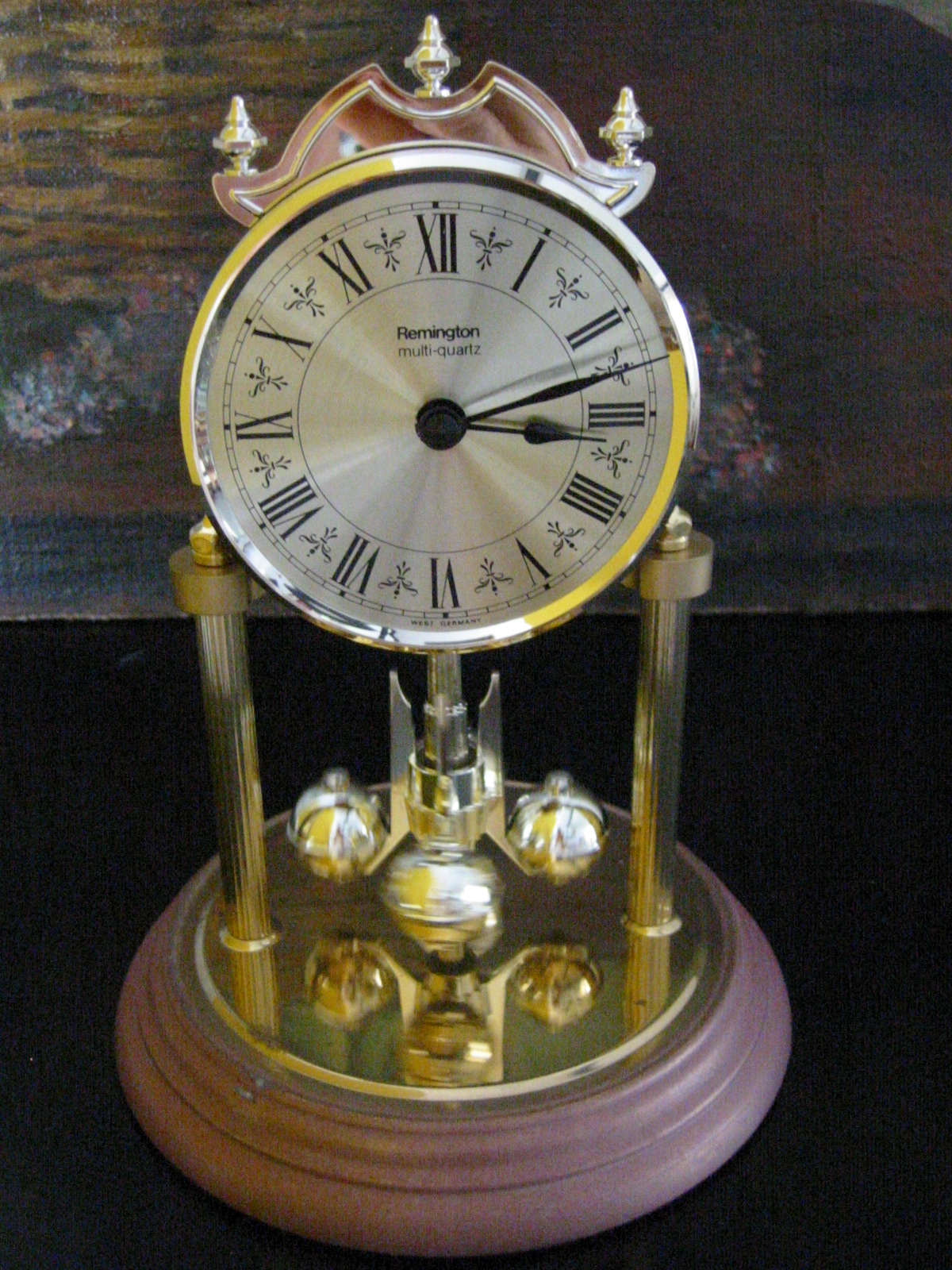 West Germany Remington Brass Pendulum Anniversary Clock
