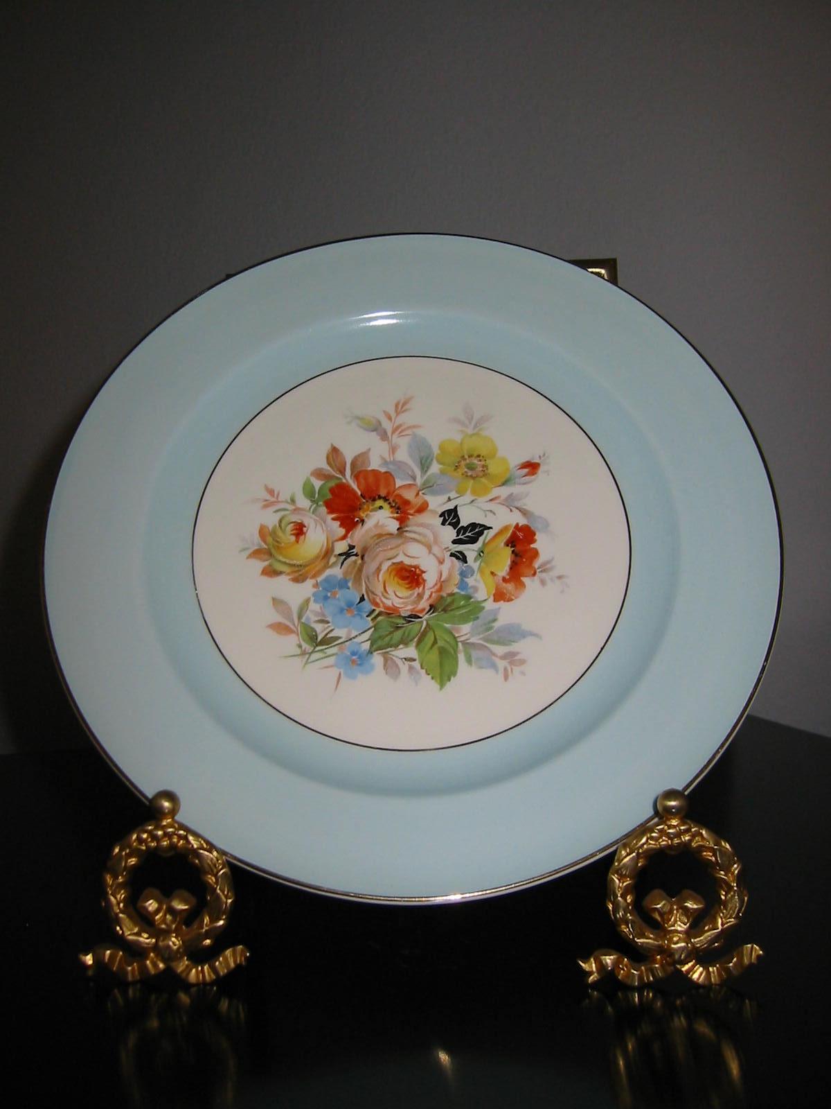 Edwin M. Knowles Semi Vitreous Porcelain Plate For Sale | Antiques ...