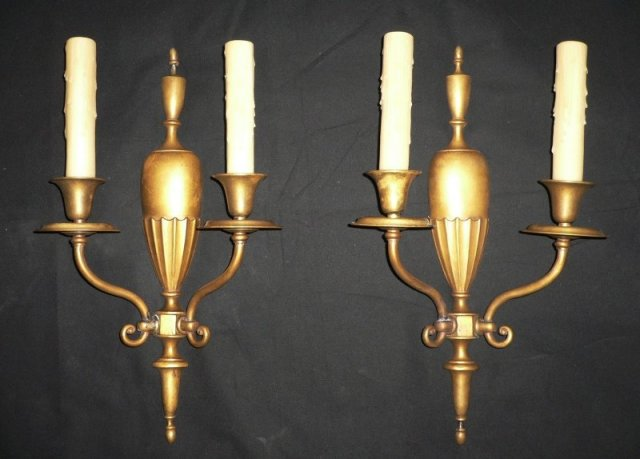 Pair of Antique Adam Style Sconces; Mitchell Vance & Co. NSP120