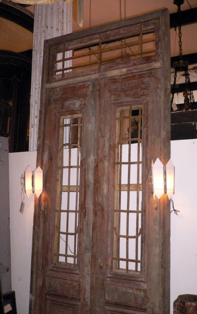 Gorgeous french colonial heart of pine double doors c for Double doors for sale