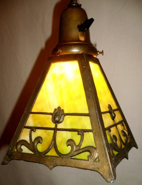 1920s art nouveau lantern