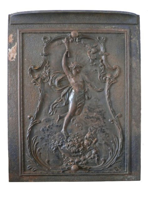 Remarkable Antique Neoclassical Figural Cast Iron Summer Cover, c ...