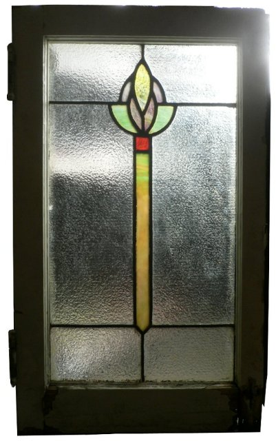 Delightful antique american arts crafts stained glass for Arts and crafts glass