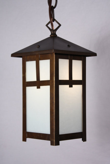 Delightful antique brass arts crafts lantern pendant light this is a fabulous antique arts crafts brass pendant light with textured milk glass and a marvelous patina dating from the early 1900s the lantern is mozeypictures Image collections