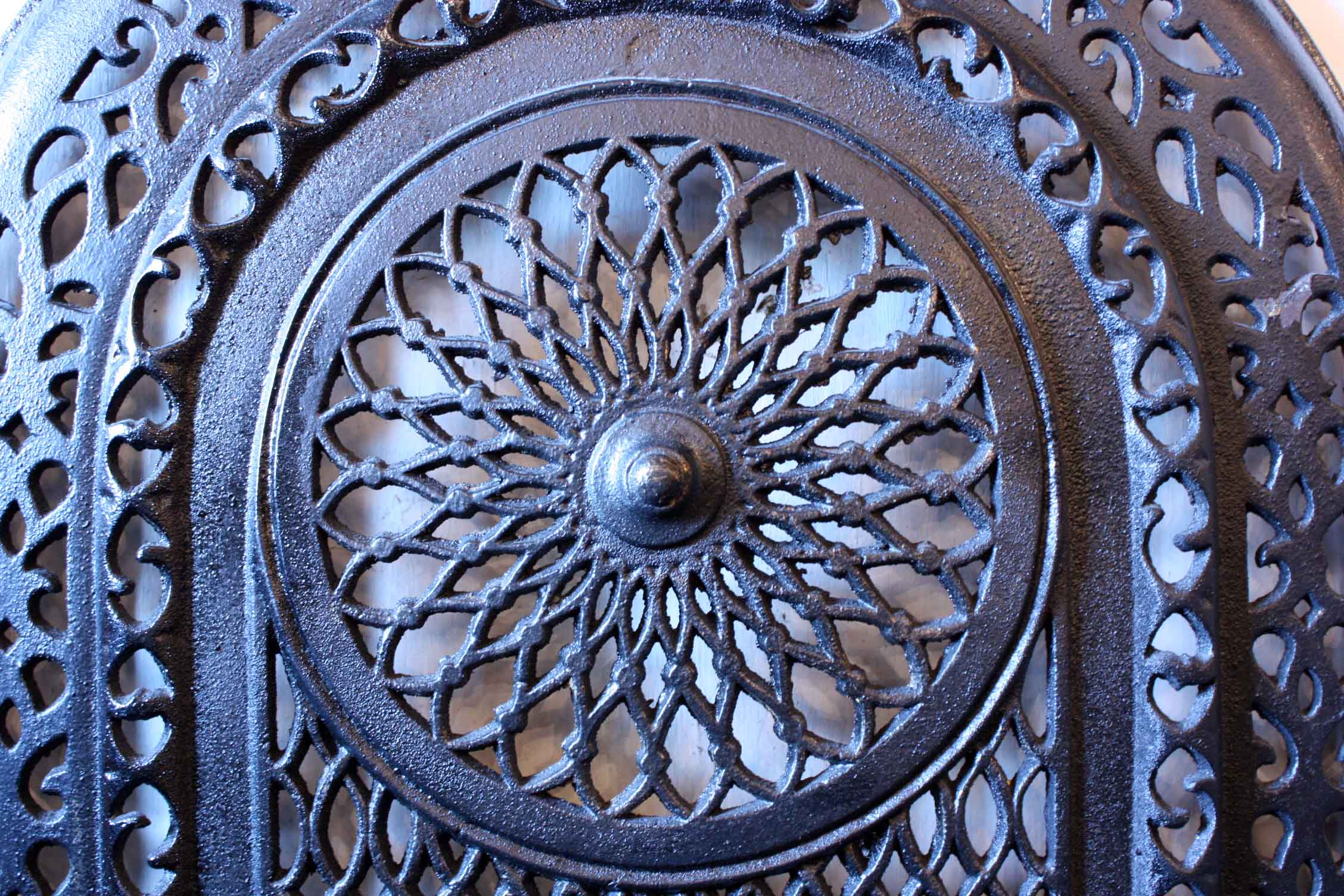 amazing antique cast iron arched summer cover early 1900 u0027s for