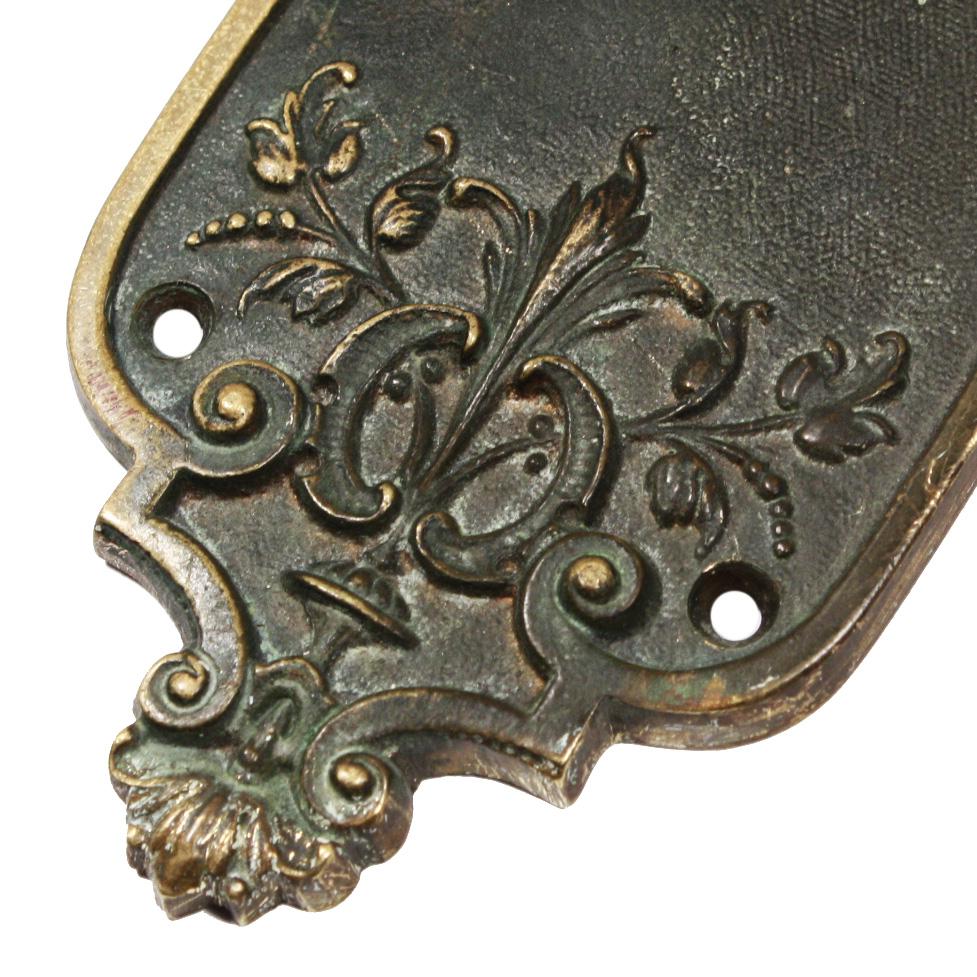 beautiful antique bronze door hardware set by barrows lock co ndks182rw for sale - Antique Door Hardware