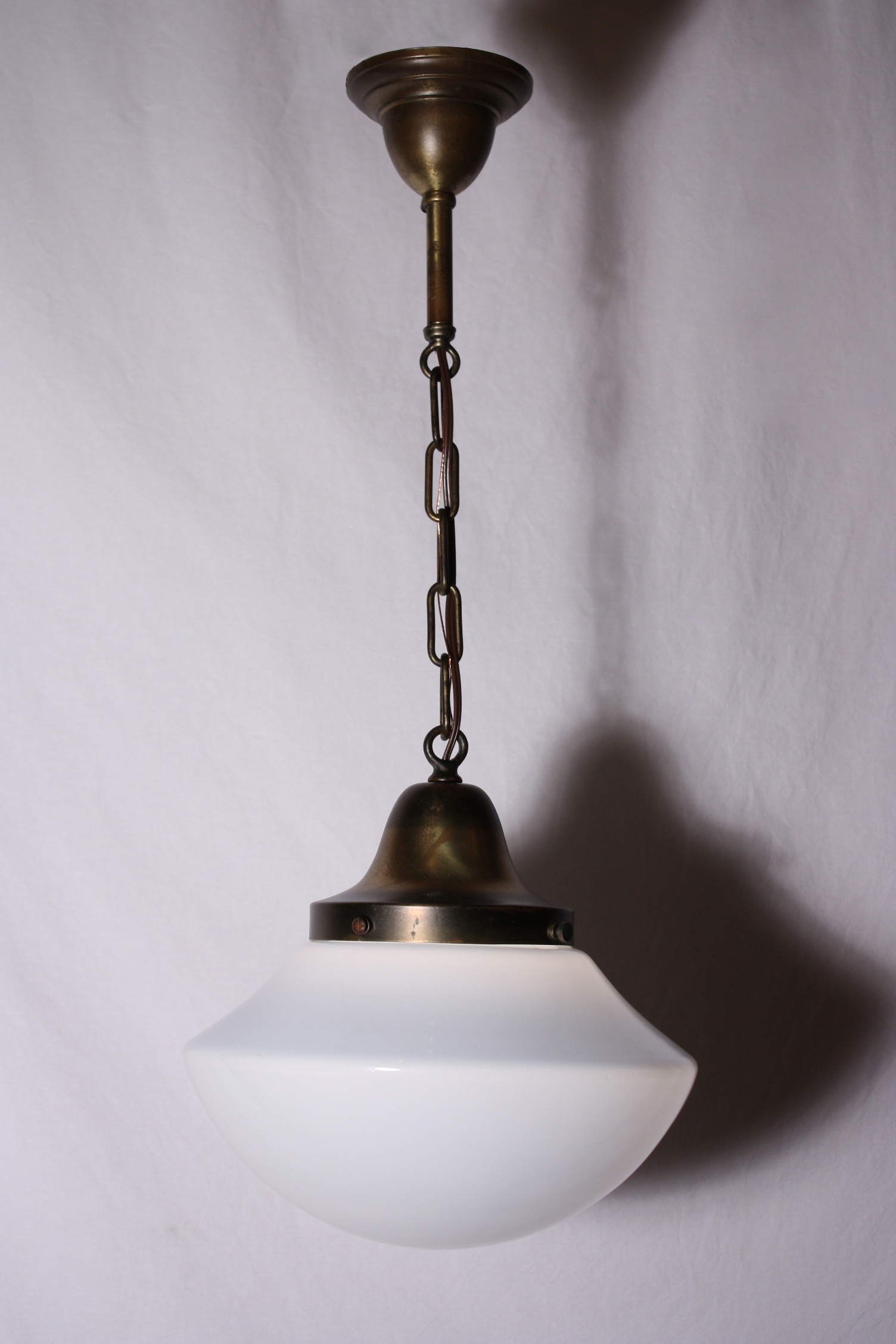 electric with natural pendant shade globe luna schoolhouse pin brass rod