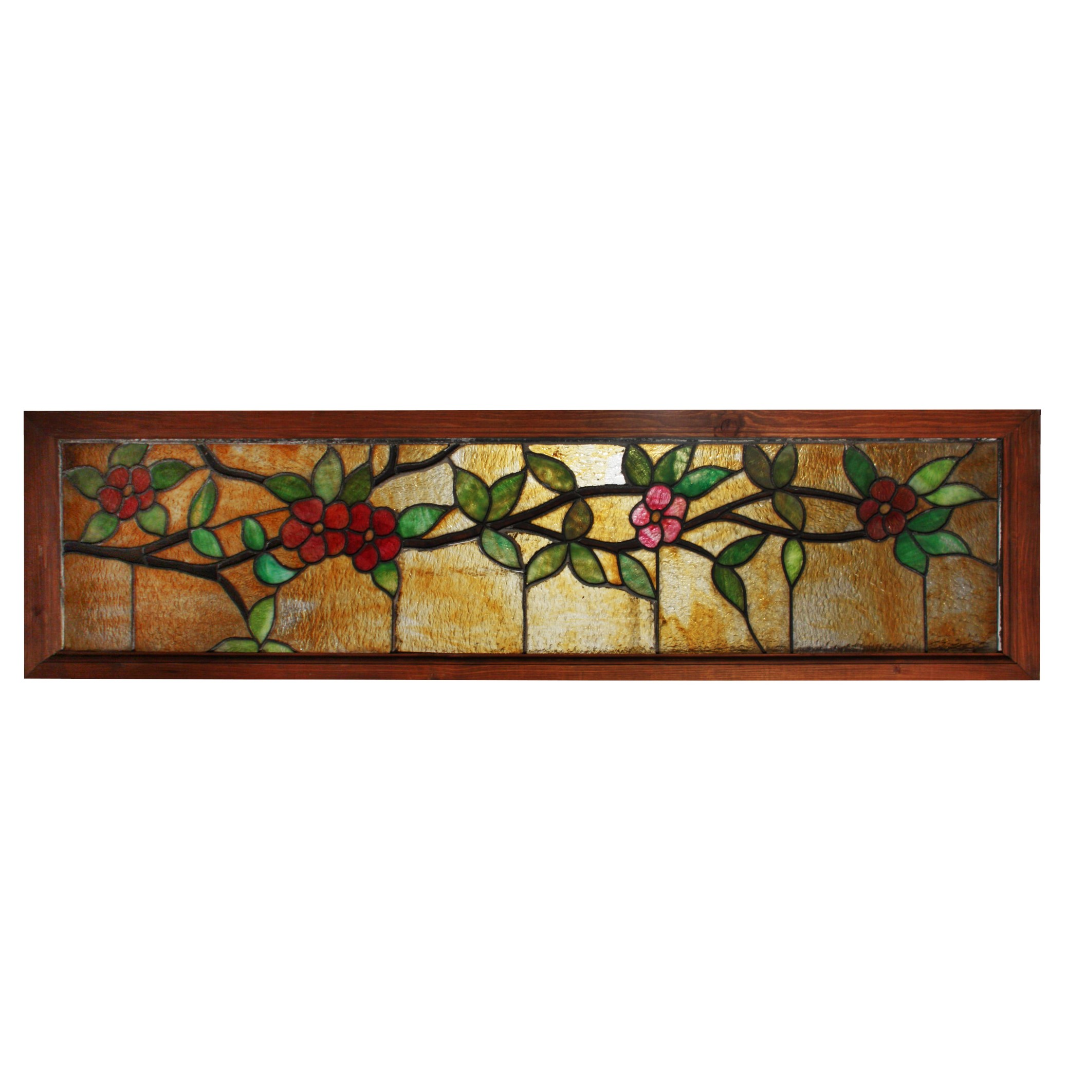 Fanciful Antique American Stained Glass Transom C 1900 S