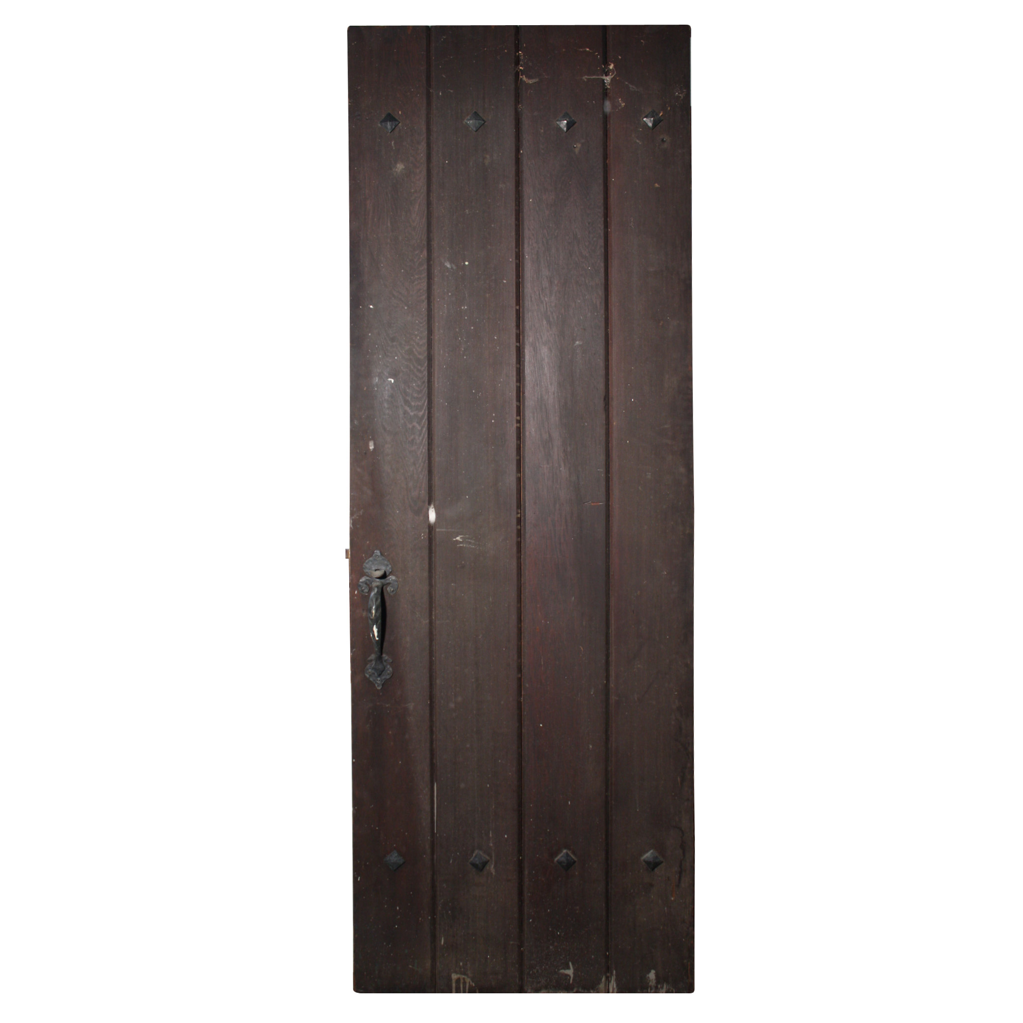 Incredible Salvaged Antique Exterior Plank Door C1920 Ned232 Rw
