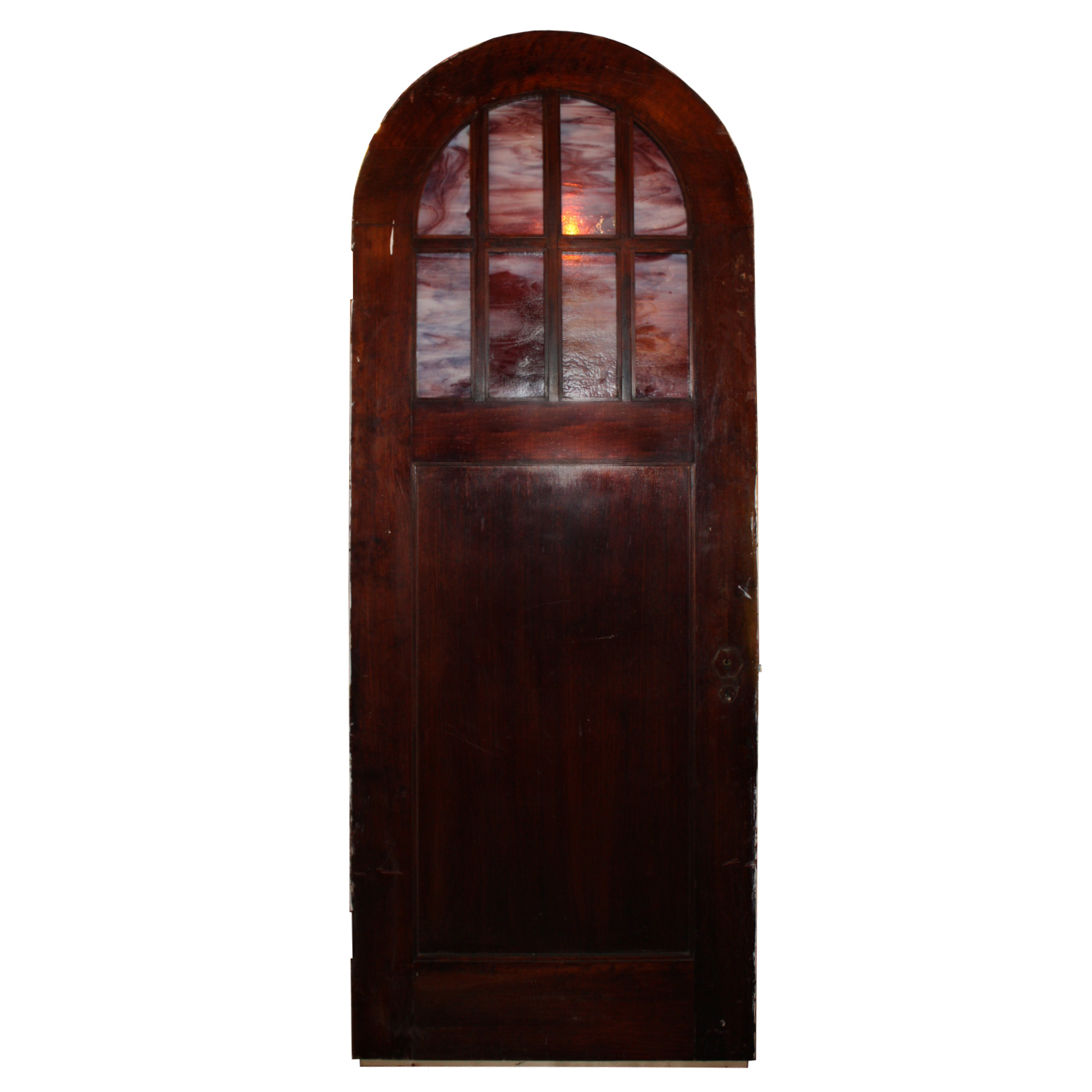 Antique 32 Exterior Arched Door With Arched Window