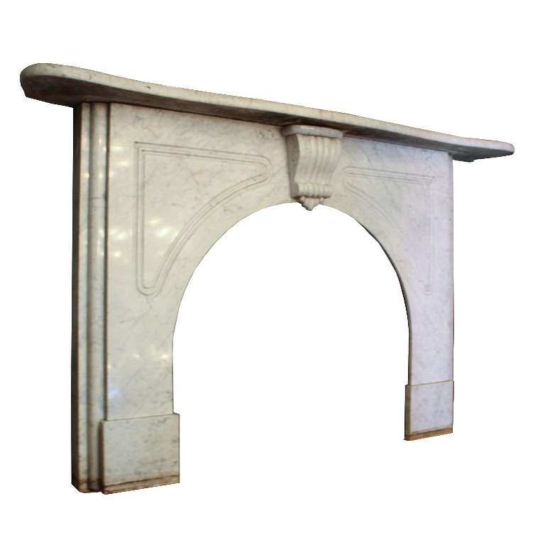 antique marble fireplace mantels. Gorgeous Antique Fireplace Mantel  Made Entirely Of Marble And Dating From The 1870 S The Features A Delicately Curved Top Below Which Is Remarkable Antique Marble Fireplace Mantel C NFPM24 RW For