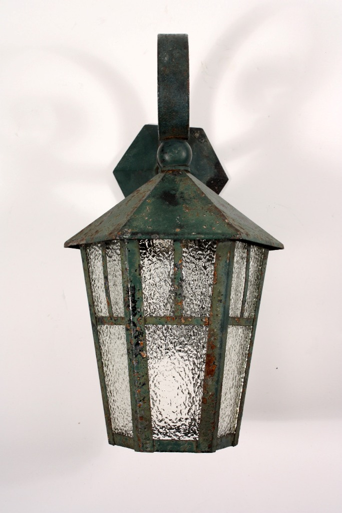 Fabulous Antique Exterior Wall Mount Lantern Iron NSP526 For Sale Antiques