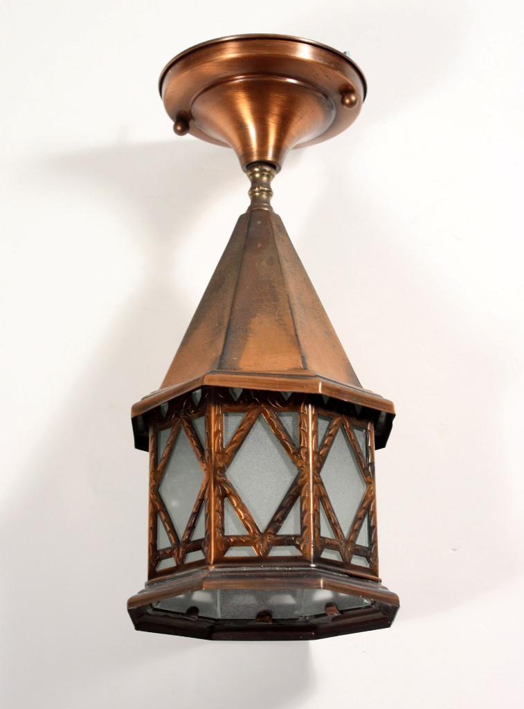 Three Matching Antique Exterior Copper Lanterns NC1092 For ...