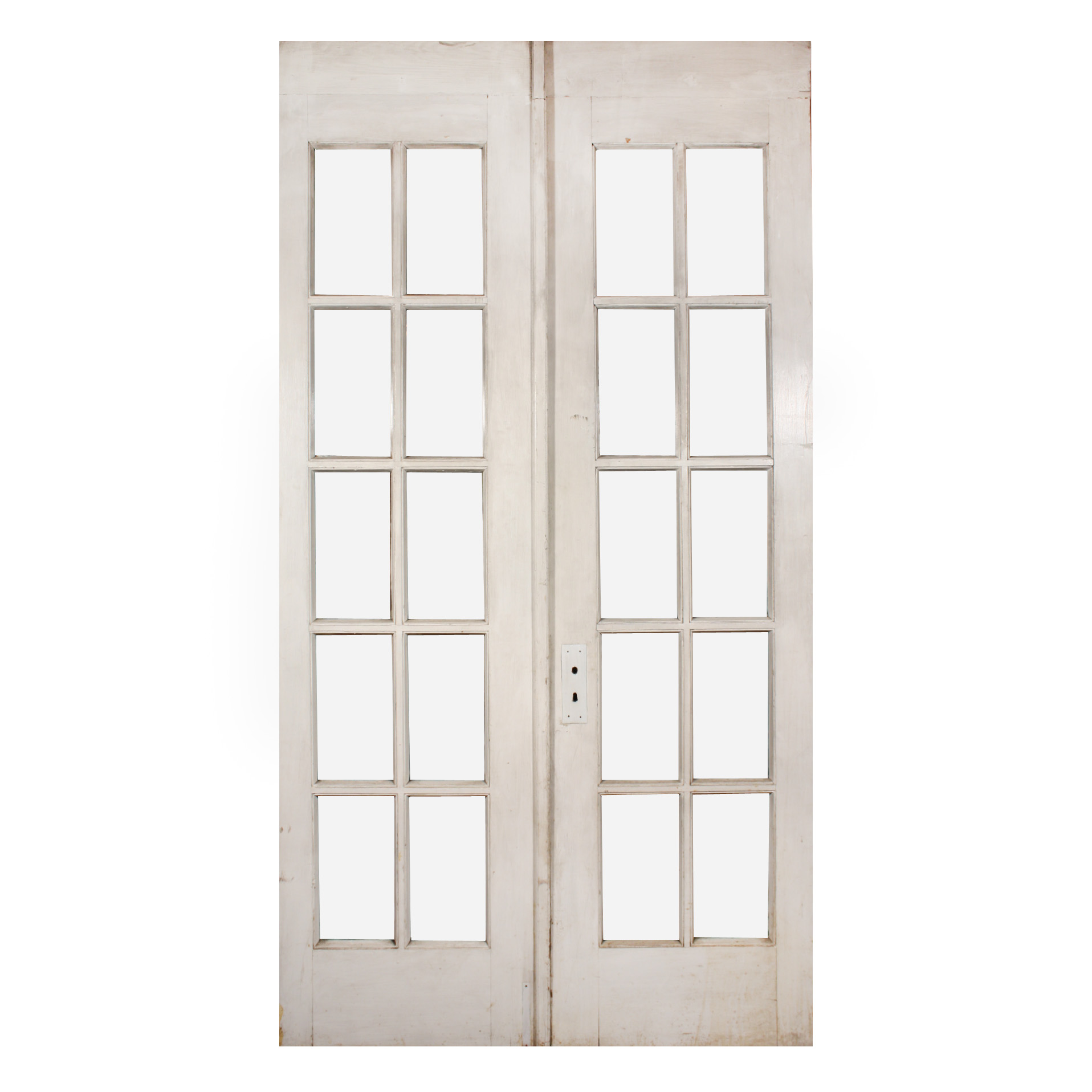 Pair of salvaged 48 divided light french doors with for French doors for sale