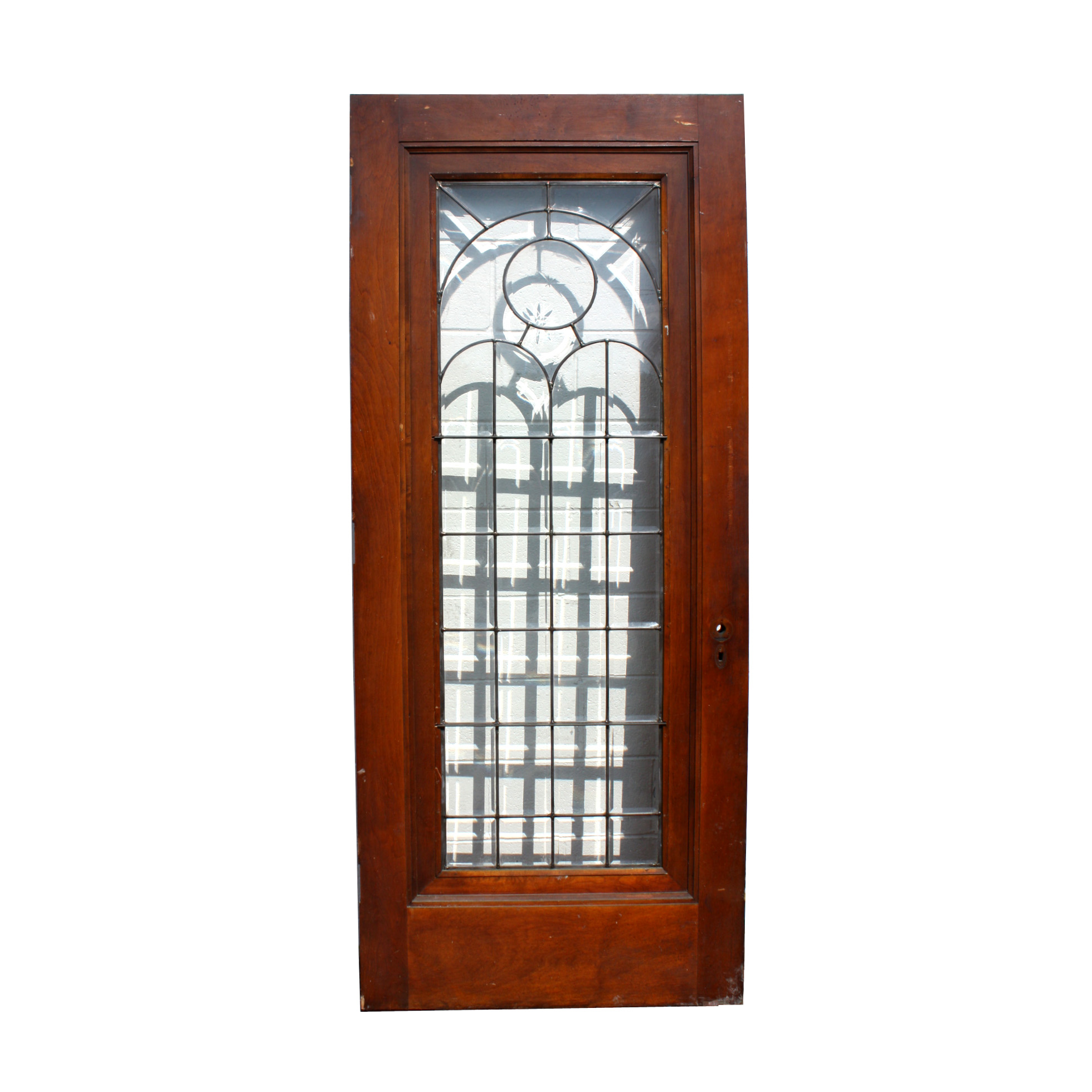 Sensational Beautiful 34 Salvaged Exterior Door With Beveled Amp Leaded Glass Hand Cut Star Ned167 For Sale Door Handles Collection Olytizonderlifede
