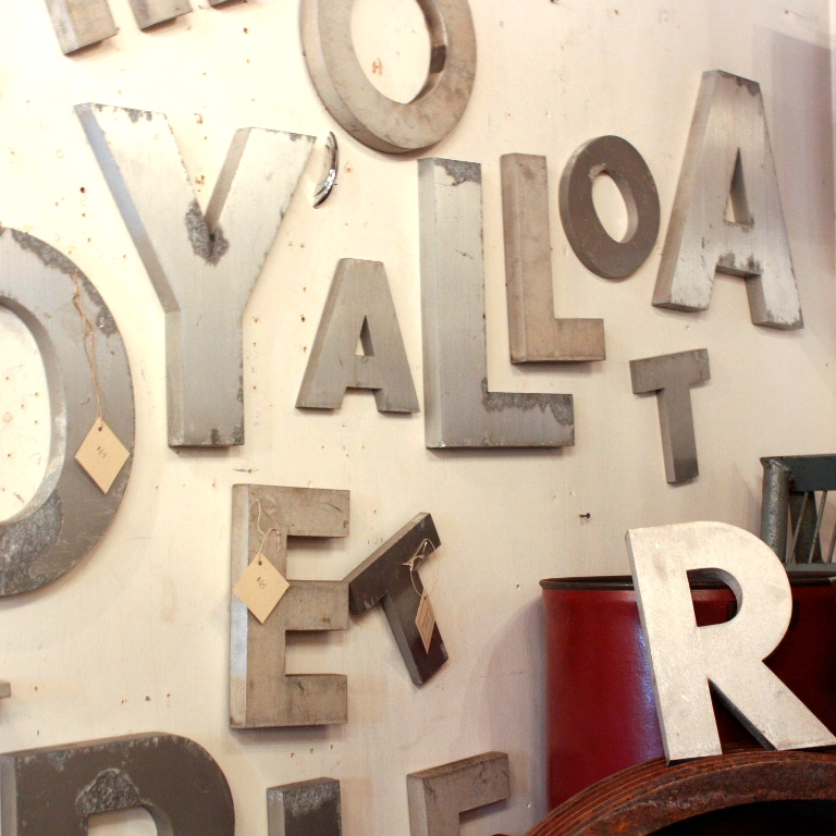 vintage salvaged industrial aluminum letter e item nil9 for sale