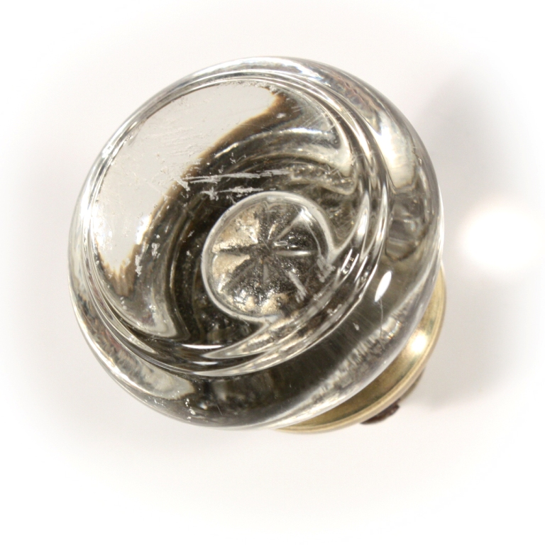 Exceptional Petite Antique Round Glass Door Knob Sets, NDK80    FOUR AVAILABLE For Sale    Antiques.com   Classifieds