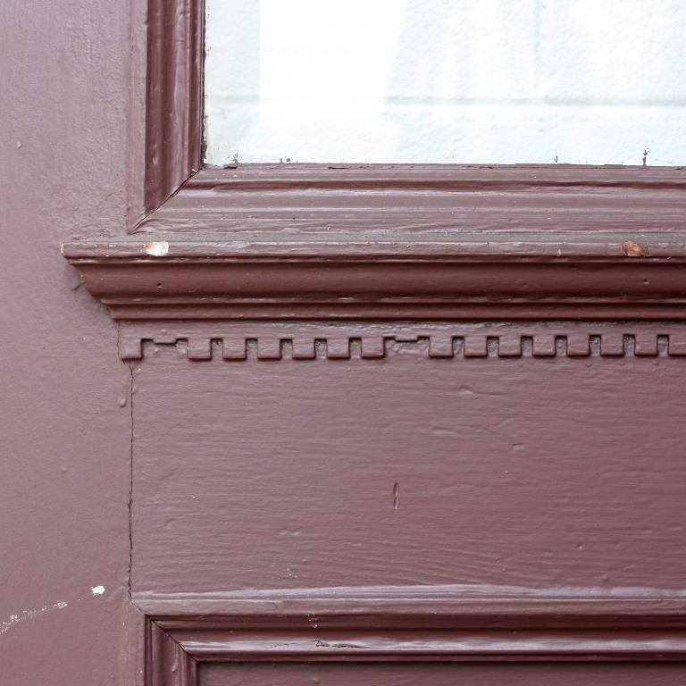 """Salvaged 34"""" X 84"""" Exterior Door With Dentil Trim"""