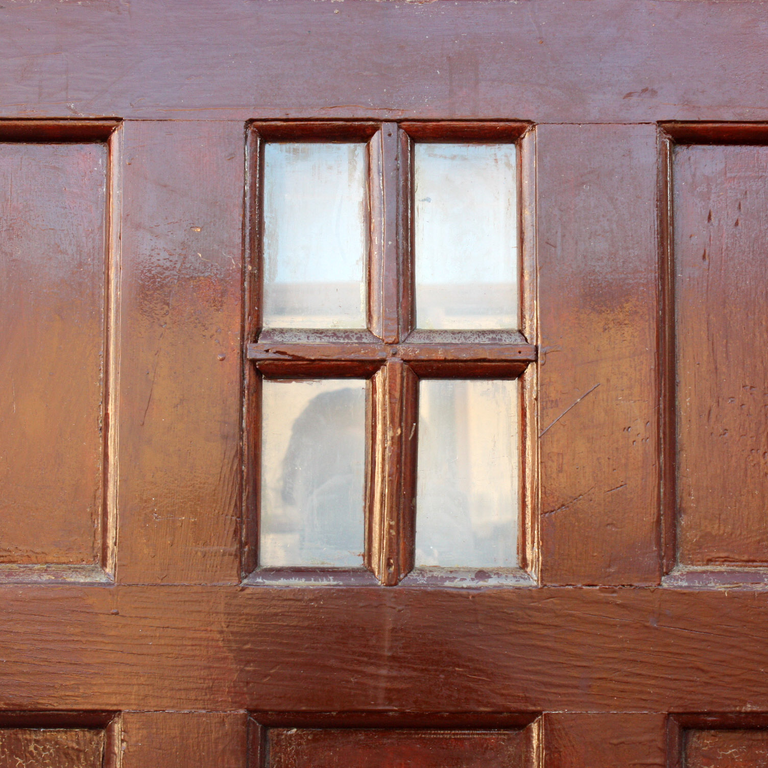 Salvaged Paneled 36 Front Door With Four Pane Window Ned127 For Sale Classifieds