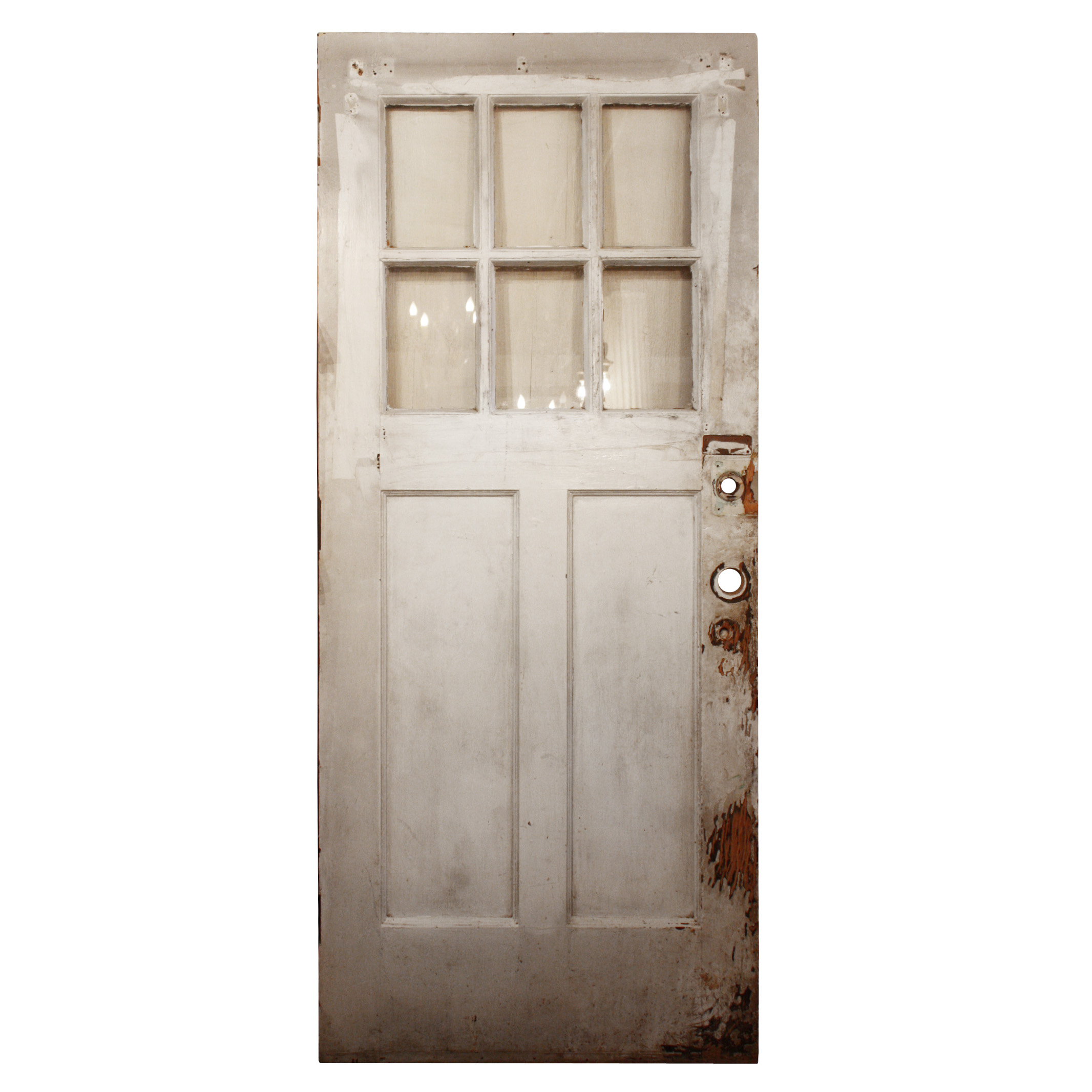 A fantastic Arts and Crafts entry door  dating from the early 1900 s and  salvaged from a home in Nashville  The window features six panes of glass  at the  Salvaged Arts   Crafts 36 Exterior Door with Dentil Molding NED240  . Exterior Dentil Molding Sale. Home Design Ideas