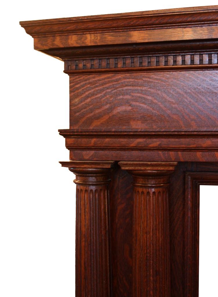 Tiger oak mantel