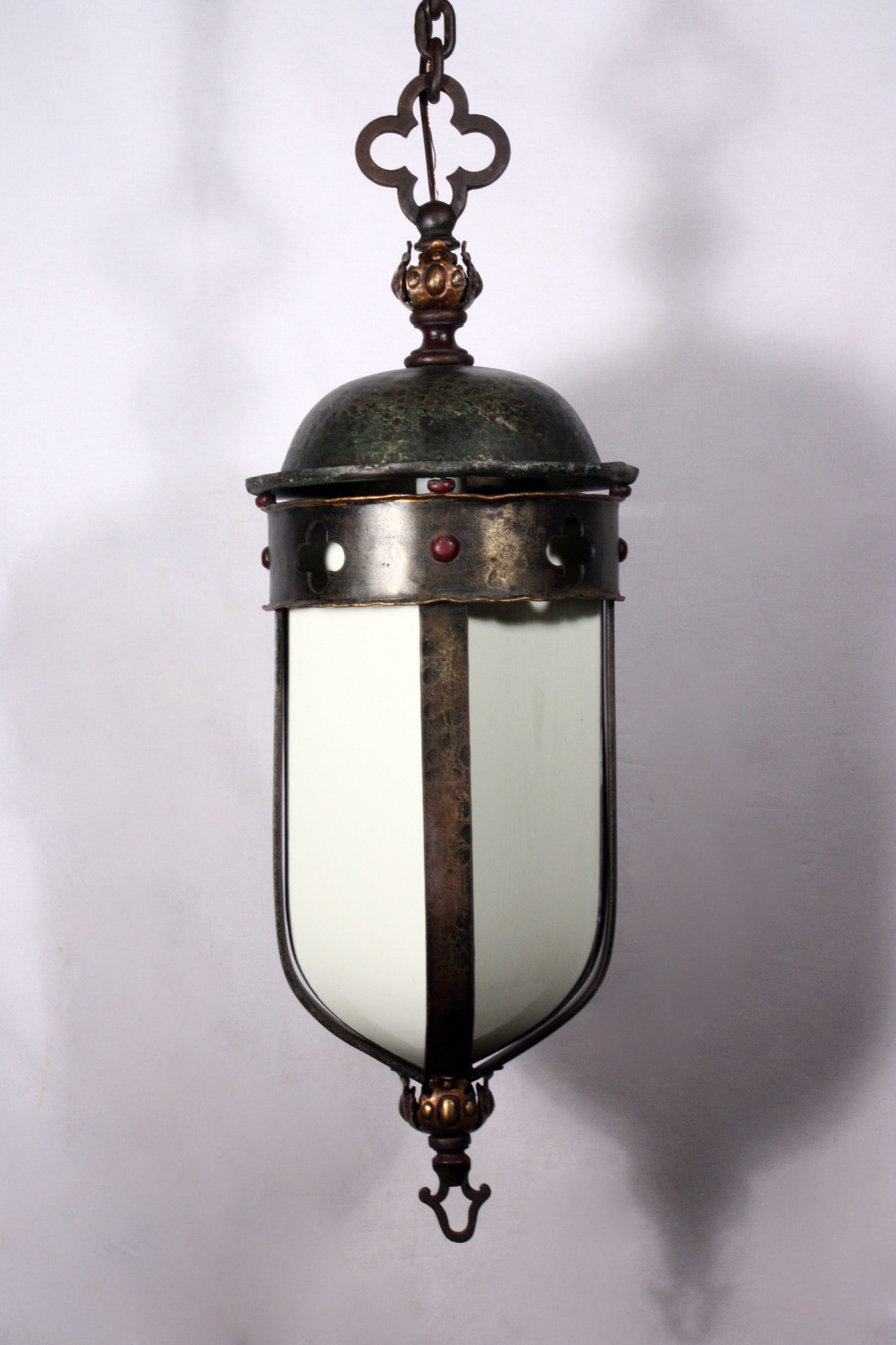 Large Antique Gothic Revival Lantern Iron Amp Bronze Early