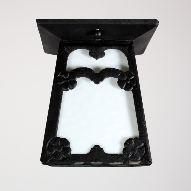 Marvelous antique arts crafts flush mount lantern c for Arts and crafts flush mount lighting
