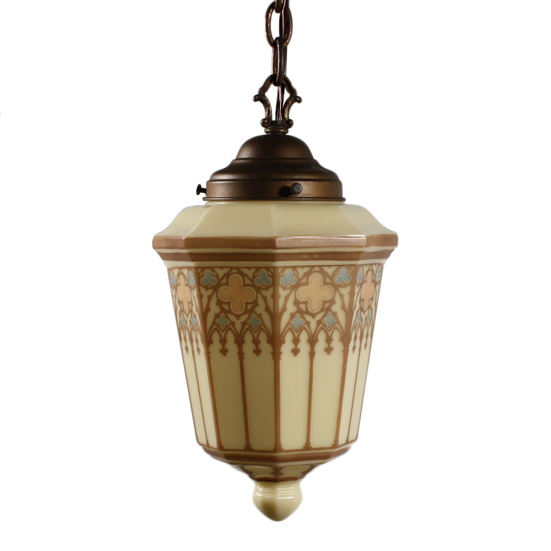 Antique gothic revival furniture for sale - Delightful Antique Gothic Revival Pendant Light Early 1900s Nc1559 Rw For Sale