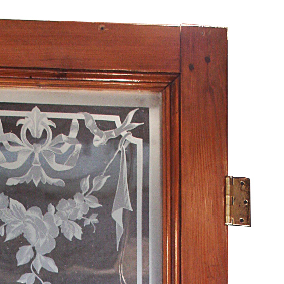 This is a stunning antique door with its original etched figural glass,  made in France in the 19th Century. The unusual triple layered etching  creates ... - Superb Antique French Figural Etched Glass Door, 19th Century