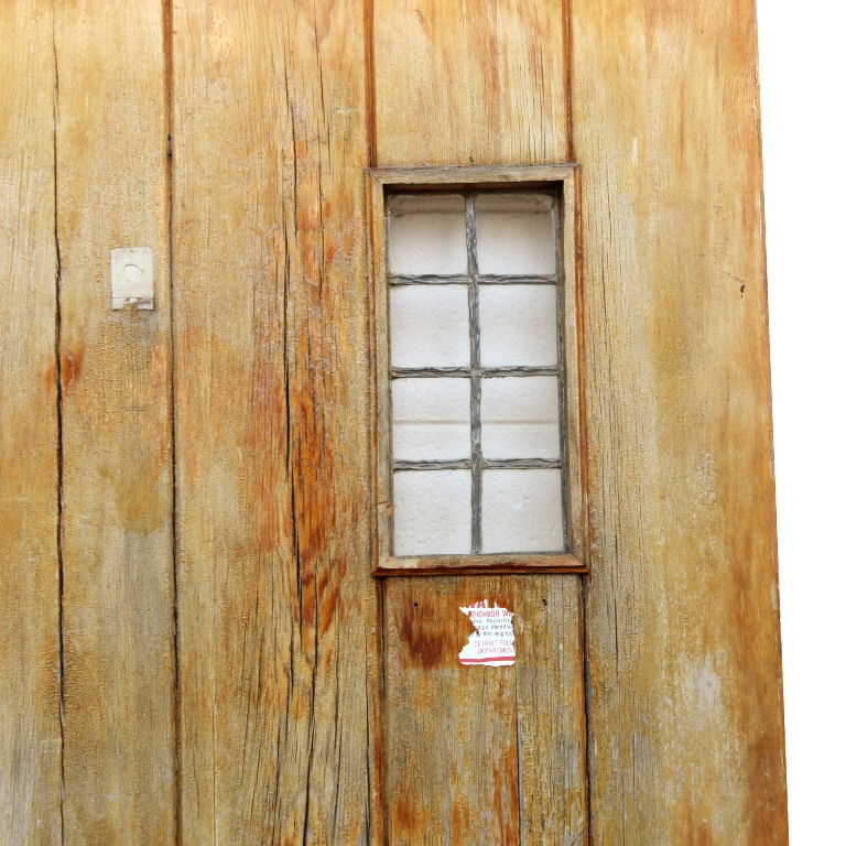 Salvaged 36 exterior plank door with window ned141 for for Exterior windows for sale