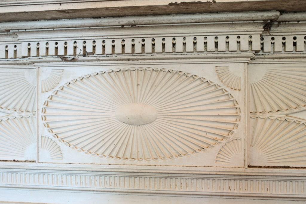 Striking Antique Carved Federal Fireplace Mantel, 1823 NFPM19 For ...