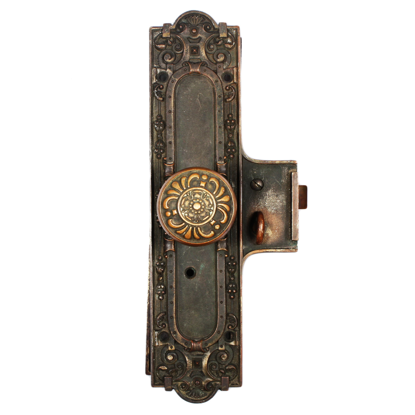 Antique bronze entry door hardware set hatfield by for Entry hardware