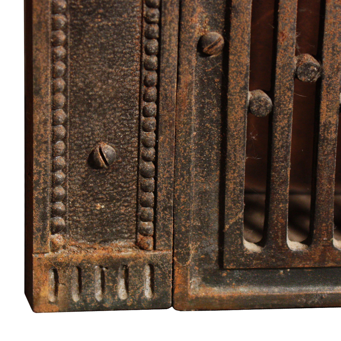 magnificent antique cast iron fireplace cover surround