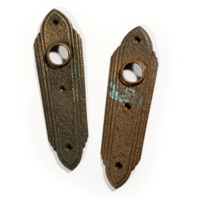 unusual antique textured brass door hardware sets 1920s