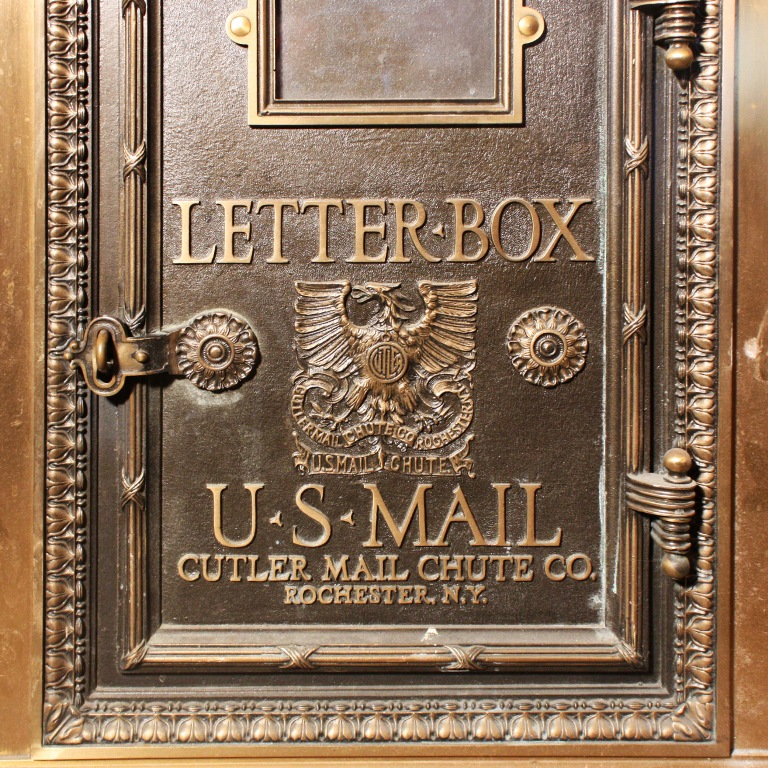 Amazing Antique Bronze US Mail Letter Box, Cutler Mail
