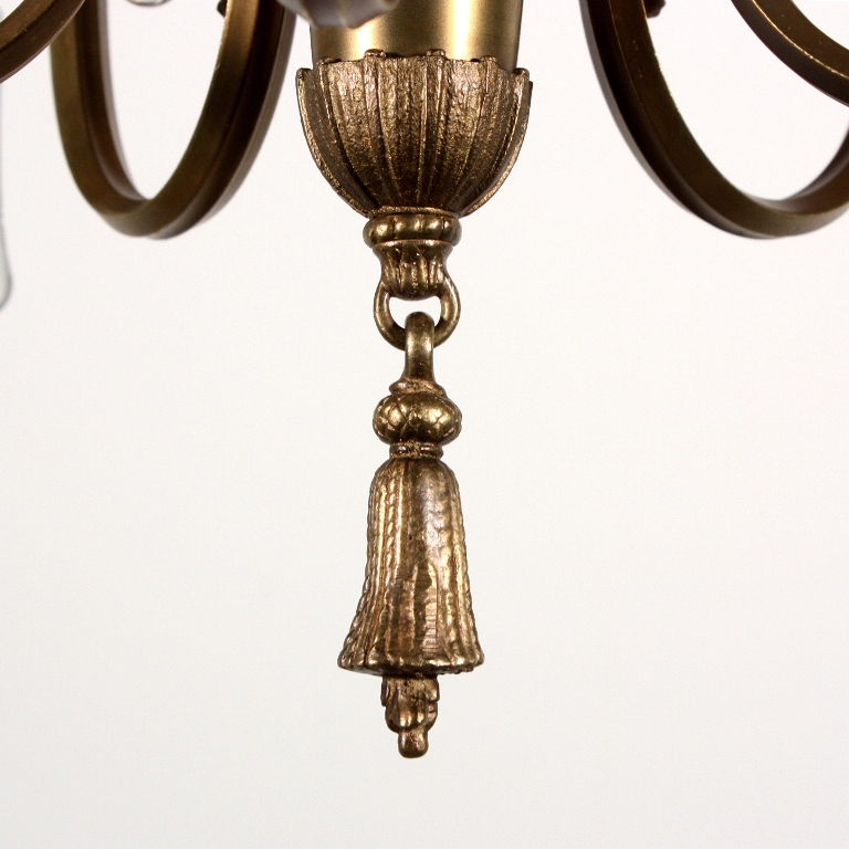 Marvelous Antique Neoclassical Five Light Chandelier With