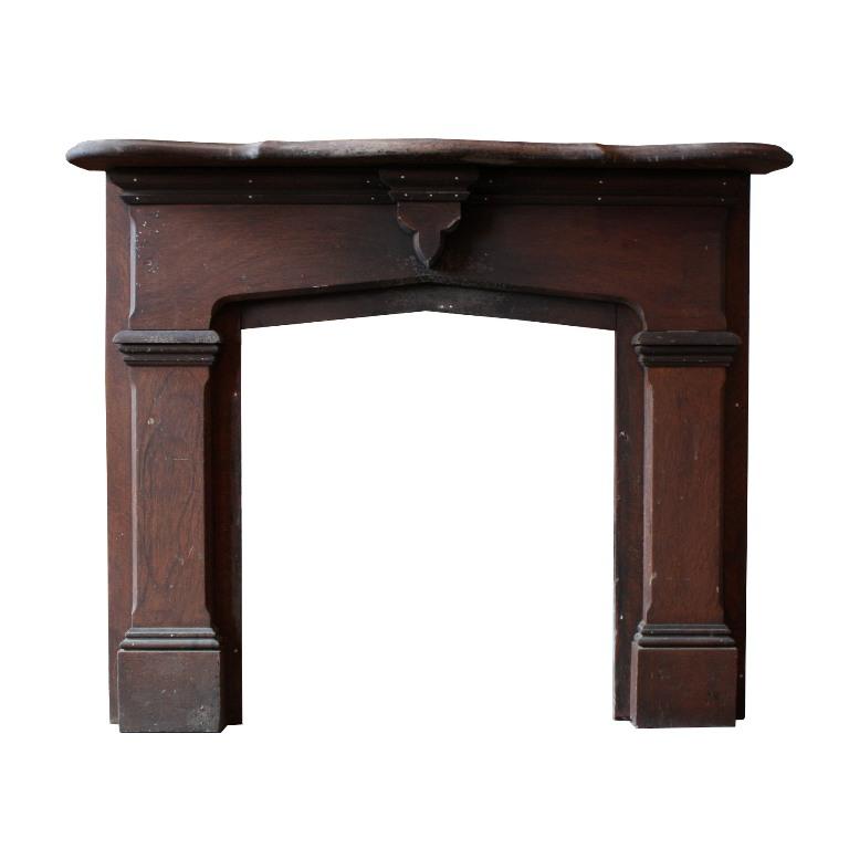 Fabulous Antique 1880 S Fireplace Mantel With Original Faux Grain Nfpm37 For Sale
