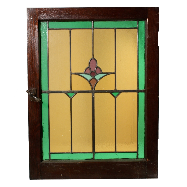 Gorgeous Antique American Stained Glass Window With